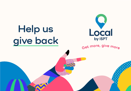 Help us give back with 'Local by ISPT'